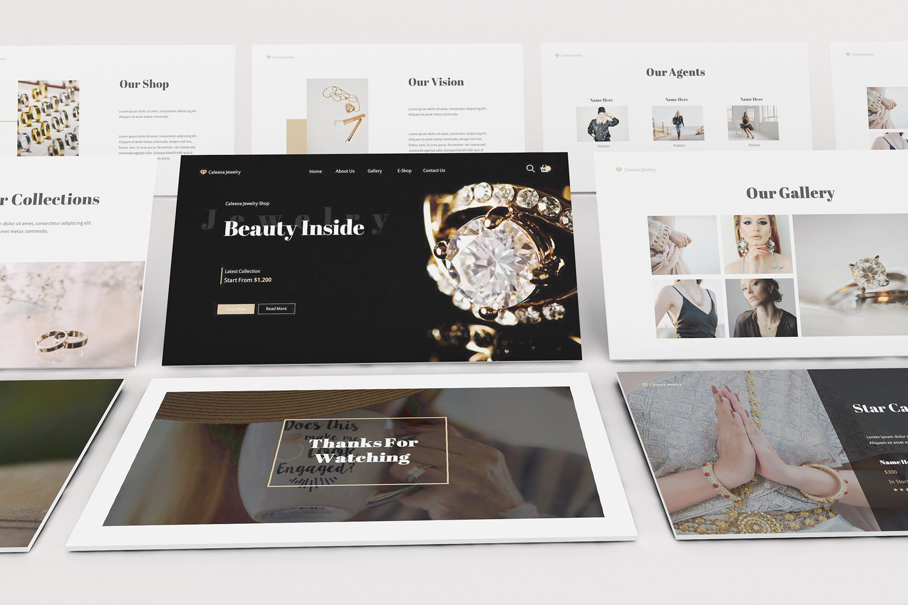 Jewelry Shop Powerpoint Template Creative Powerpoint Templates Creative Market