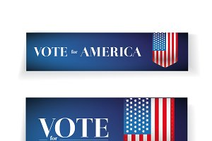 Vote for America banners