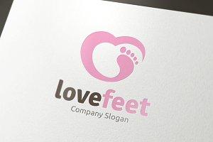 Love Feet Logo