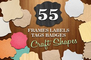 Frames Labels Tags Badege Crafts