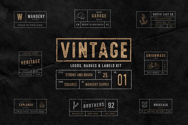 Vintage Badges/Logos Vol. 1