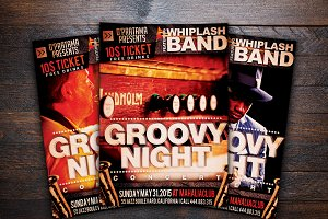 Groovy Jazz Night Music Flyer
