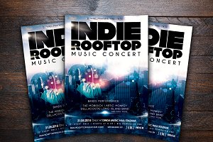 Rooftop Music Concert Flyer