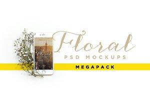 Floral iPhone Mockup Megapack