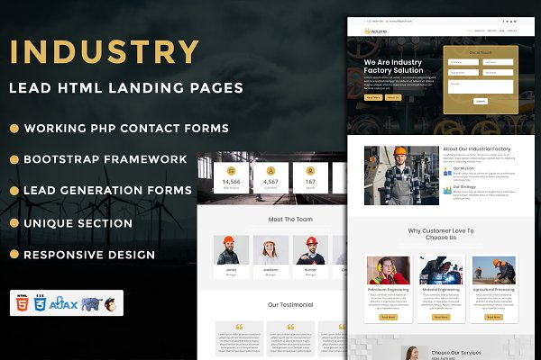Industry Landing Page Template