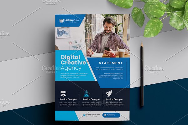 Blue Corporate Flyer Template