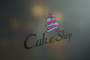 Cake Shop Logo Template