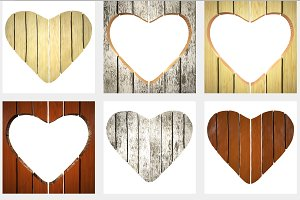 wooden signboard in shape of heart