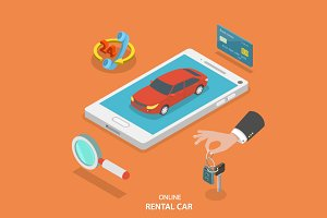 Online rental car service