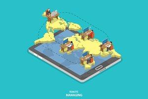 Remote managing concept