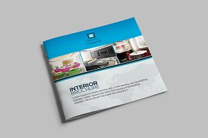 Square Bifold Interior Brochure
