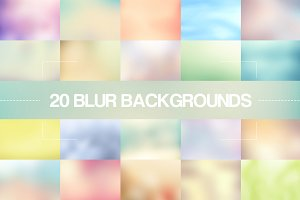 20 Light Blur Backgrounds