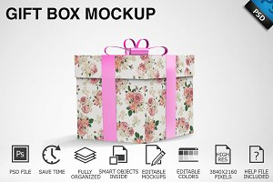 Gift Box Mockup 01