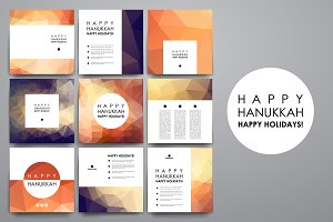 Hanukkah. 9 Flayer Templates