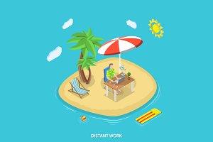 Distant work isometric concept
