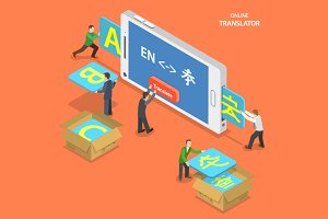 Online translator concept