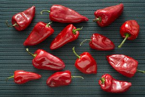 Peppers  over dark  background