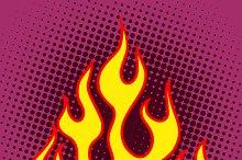Flame retro silhouette