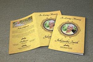 Funeral Program Template-V266