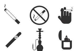 Vector smoking icons set