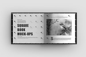 Square Book Mock-Up 4