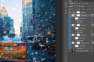 Snowfall photo overlay