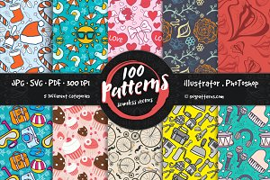 100 Seamless Vector Patterns
