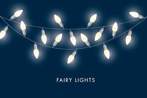 fairy lights vector