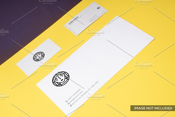 Branding Mockup in Yellow Pack 9