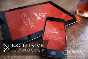 "iPhone & iPad Mockup Exclusive ""C"""