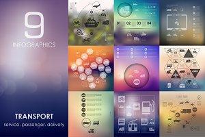 9 transport infographics