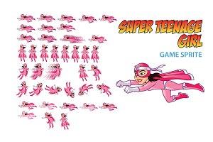 Super Teenage Girl Game Sprite