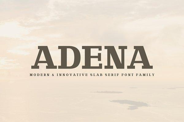 Adena Slab Serif Font Family