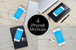 4-iPhone 6 Mockup Templates