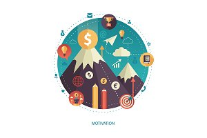 Motivation Mountain Illustration