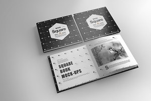 Square Book Cover Mock-Up 6