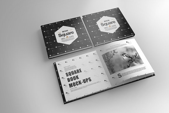 Book Cover Black Market : Square book cover mock up product mockups creative