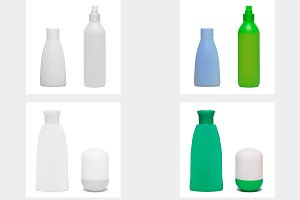 Set of cosmetic bottles. Vector