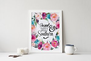 Sweet Sassy & Southern, Word Overlay