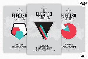 ELECTRO MINIMAL Flyer Template