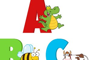 Alphabets With Animals Collection