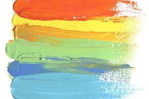 acrylic brush strokes painting