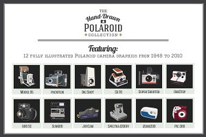 Hand-Drawn Polaroid Camera Graphics