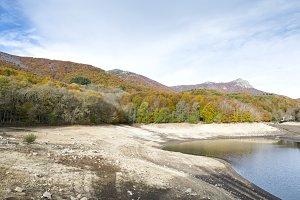 Montseny in Autumn lake