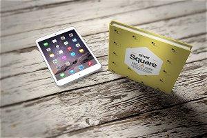 iPad & Square Book Mock-Up 11