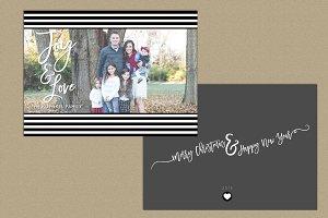 Christmas Card | b+w stripes