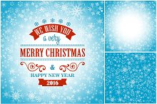 Christmas card with snowflakes