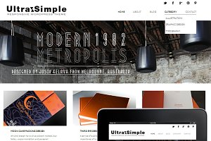 UltraSimple WordPress Theme