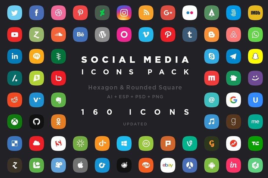 160 Social Media Icon