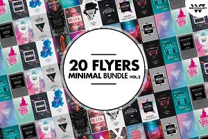 MINIMAL Flyer Template Bundle Vol.2